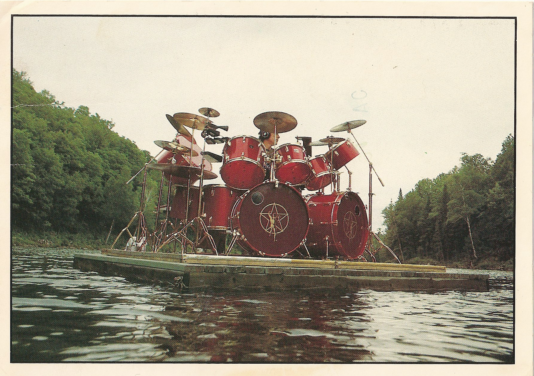 Neil Peart Postcard front